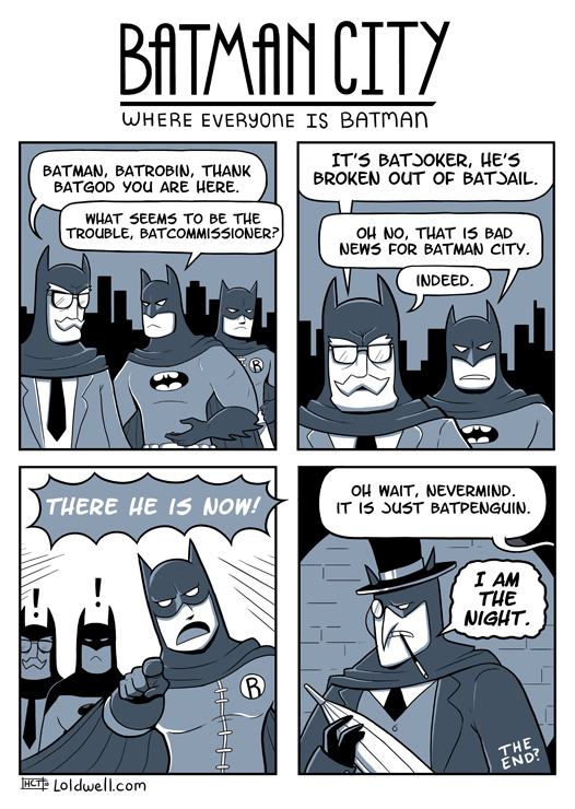 Let's put a cowl on that face. - BatJoker